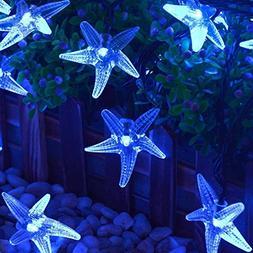 KINGCOO Solar Starfish String Lights, Waterproof 20ft 30 LED