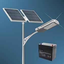 ECO-WORTHY 40 Watt LED Solar Street Light System: 2pcs 100 W