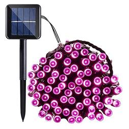 Qedertek Solar String Light, 33ft 100 LED 8 Modes Light Sens