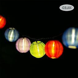 Solar String Light Lanterns 30LED 6M/19.6ft, Waterproof Sola