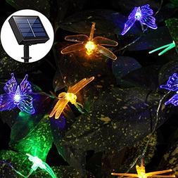 Solar String Lights Outdoor, Aukora 20 LED Solar Powered But