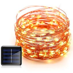 Konnoo Solar String Lights 100 LED Copper Wire Waterproof St