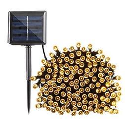 Qedertek Solar String Lights 72ft 200 LED Fairy Christmas Li