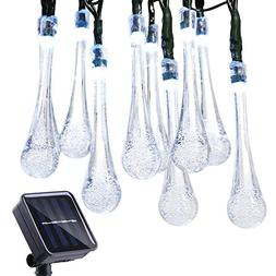 Icicle Solar String Lights, 24.6ft Solar Outdoor Lights with
