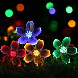 AJUN Solar String Lights, Outdoor Waterproof 50 LED Solar Ga