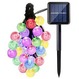 Solar String Lights,Qkfly Crystal Ball 20ft 30 LED Waterproo