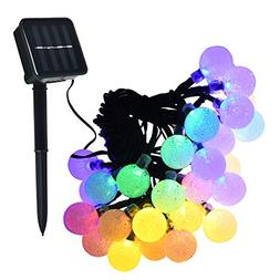 Lareinae Solar String Lights - Solar Lights Outdoor with 30