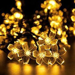 ADDLON 23ft Solar String Lights 50 LED Waterproof Decorative