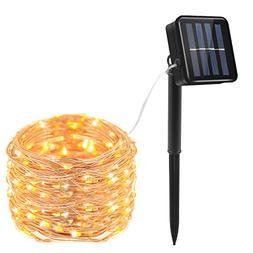Prefer Green Solar String Lights 100 LED 33ft 8 Modes Lights