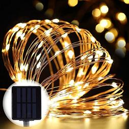 elecfan Outdoor Solar String Lights Waterproof Warm White,33