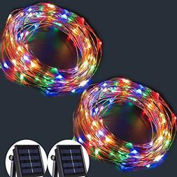 solar string lights wire fairy