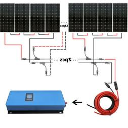 Solar System Kit 100W 500W 1000W  2KW Watt w/ 100W Mono Sola