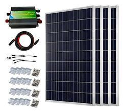 ECO-WORTHY 400 Watts Solar System Kit: 4pcs 100W Poly Solar