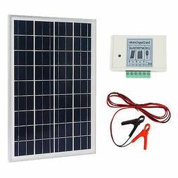 ECO-WORTHY 20W 12V Solar System Kit: 20 Watt Polycrystalline