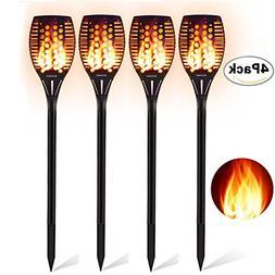 Aityvert Solar Torch Lights, Waterproof Flickering Flame Sol