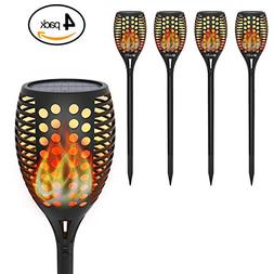 Solar Torch Lights, OxyLED Solar Garden Path Light with Real