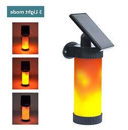 Elivern Solar Wall Lights, Led Flame Light, Waterproof Outdo