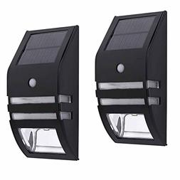 Solar Outdoor Wall Sconce Accent Lights Metal Fence Post Lam