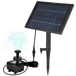 LEDGLE 5W Solar Water Fountain Pump Decorative Garden Water