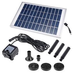 uxcell Solar Water Pump Kit 5W 3M/9.8ft Wire Length with 7 S