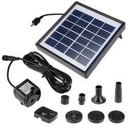 uxcell Solar Water Pump Kit 1.8W 3M/9.8ft Wire Length with 7
