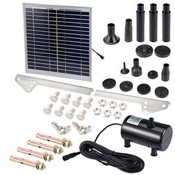 uxcell Solar Water Pump Kit 15W 3M/9.8ft Wire Length with 7