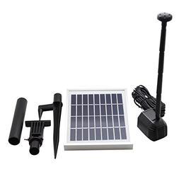 ASC 2.5-watt Solar Water Pump Kit for Fountain Pool