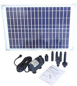 Solariver Solar Water Pump Kit - 400+GPH Submersible Pump an