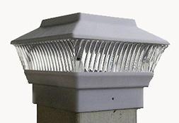 Solar White Color Square PVC Post Fence Mount 4x4