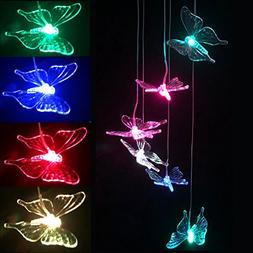 LED Solar Wind Chime - Outdoor Waterproof Solar Powered LED