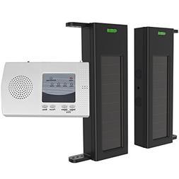HTZSAFE Solar Wireless Driveway Alarm-190 Feet Wide Sensor R