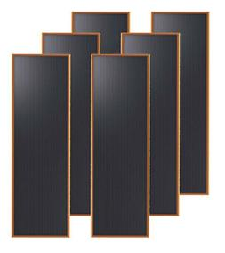 Brunton Solarflat 15 Watt 12v Solar Amorphous Panels 6/Pack