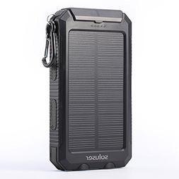Soluser 10000mAh Portable Solar Charger External Backup Batt