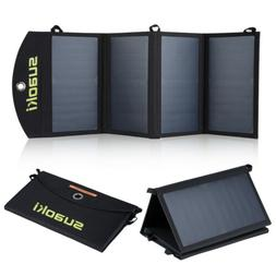 Suaoki SP03 Quadruple 25W Foldable Dual-Port Solar Charge Fo
