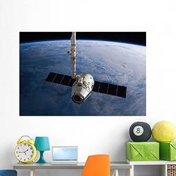 Spacex Dragon Cargo Craft Wall Mural by Wallmonkeys Peel and