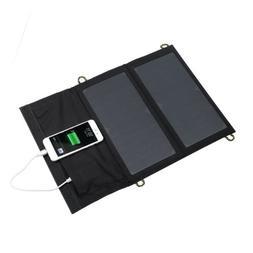 Sun Solar Power Bank Panel Cell Phone Charger 14W 5V USB Car