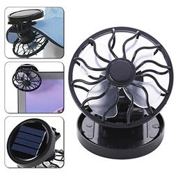 Awakingdemi Clip-On Solar Fan, Portable Solar Powered Mini C