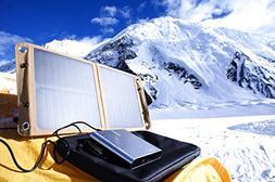 LIFEPOWR SUN20C Solar Panel Charger USB-C PD & DC Output for