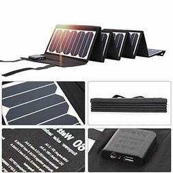 SUNKINGDOM 60W 2-Port DC USB Solar Panels Portable Charger w