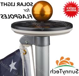 Sunnytech 2018 New Generation-BLACK Solar Flag Pole Flagpole