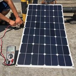 Sunpower 100W 18V Solar Panel Charger for 12V Boat RV 100w S