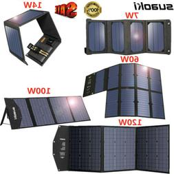 Suaoki Sunshine Power 7W/14W/60W/100W 5V/18V USB Solar Panel