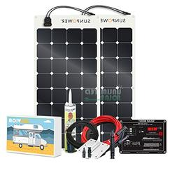 Unlimited Solar SUNVICA-PRO 200 Watt Flexible MPPT RV Solar
