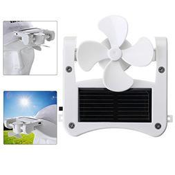 Kisstaker USB Fan, Mini Portable Solar Cap Clip Solar Panel