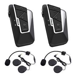 Suaoki 2 Pack Motorcycle Bluetooth Intercom Versatile and Wa