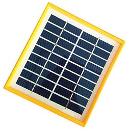 JoyTech 1pc 2w 9v 220ma Tempered Glass+yellow Frame Solar Pa