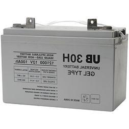 Universal Power Group UB121000  12v 100ah Gel Battery for Re