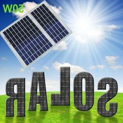 Ultra Thin 50W Watt 12V Poly Outdoor Solar Panel Module RV B