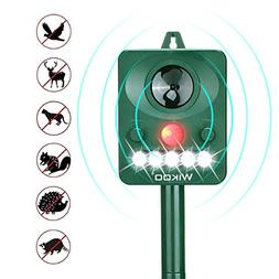 Wikoo Ultrasonic Animal Repeller,Solar Powered repellent,Act