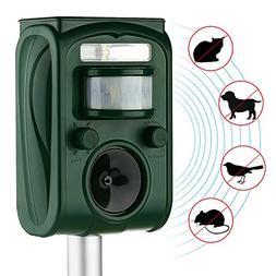 AUTSCA Ultrasonic Animal Repeller Solar Power Animal & Pest